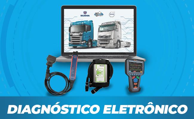 Diagnóstico eletrônico de caminhões. Snaners originais volvo e scania