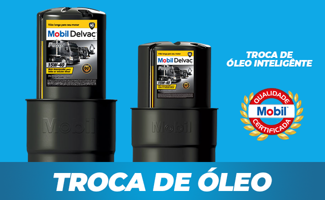 Troca de óleo inteligente Mobil Delvac